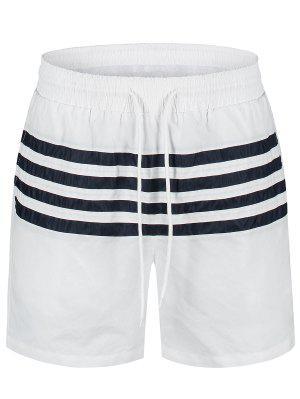 Gestreifte Strand Boardshorts