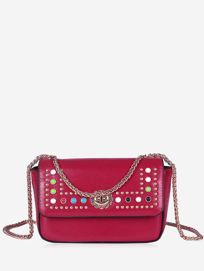 Chain Studs Crossbody Bag