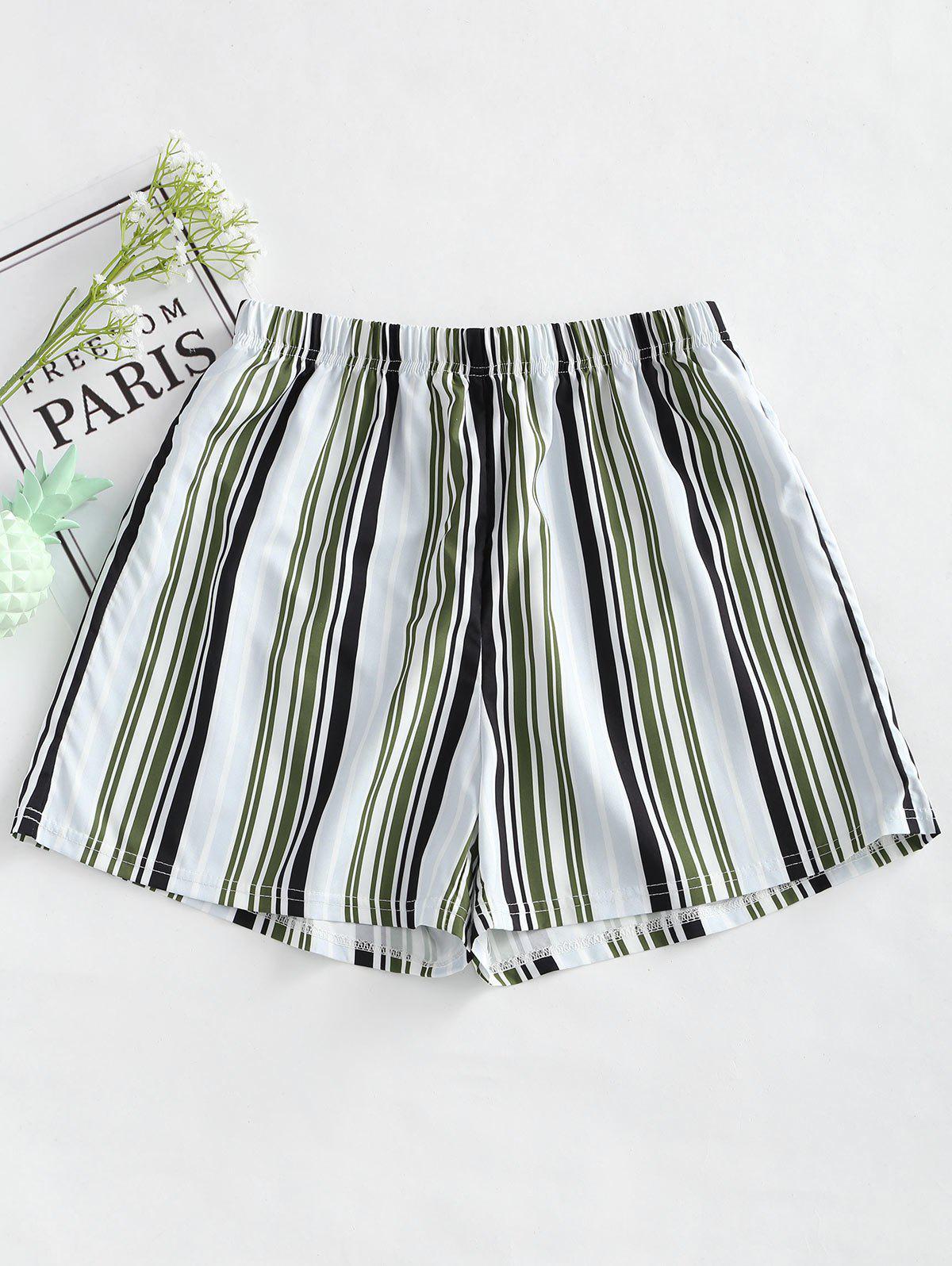 High Waist Striped Loo