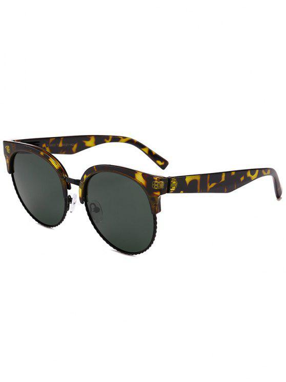 نظارات شمسية بشكل عين القط - التمويه الخضراء الداكنة