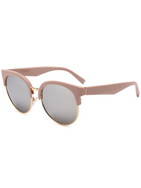 women's Unique Round Circle Cat Eye Sunglasses - MERCURY LENS