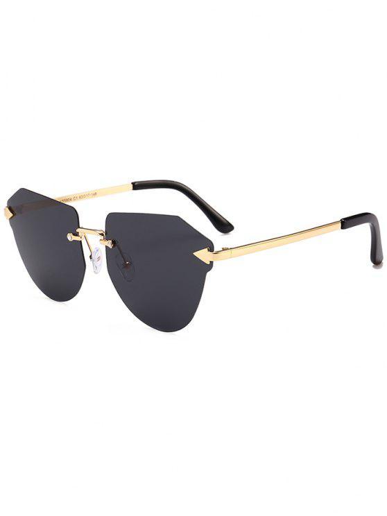 السهم مزينة غير النظامية النظارات بدون إطار - أسود رمادي