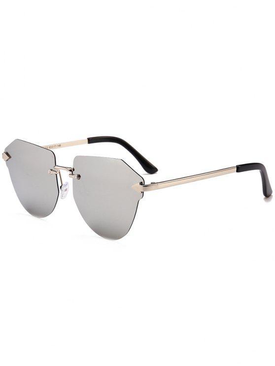 السهم مزينة غير النظامية النظارات بدون إطار - النيكل الإطار + الزئبق عدسة