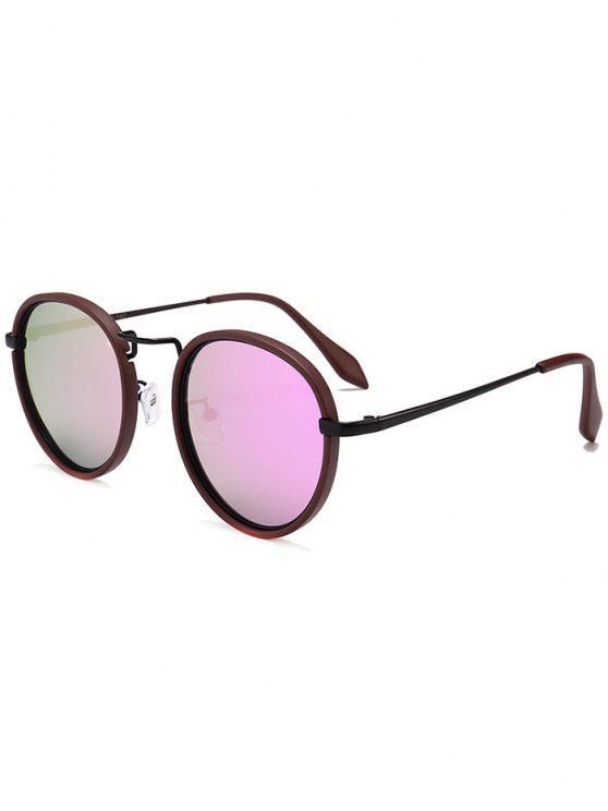 نظارات شمسية دائرية بإطار معدني - أرجواني