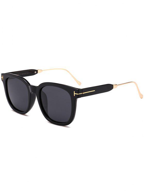 نظارات شمسية بإطار بسيط - أسود مزدوج