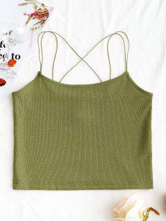 Camiseta Sin Mangas Con Tiras Brillantes - Verde