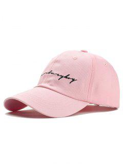 Unique Letter Sentences Embroidery Baseball Hat - Pink