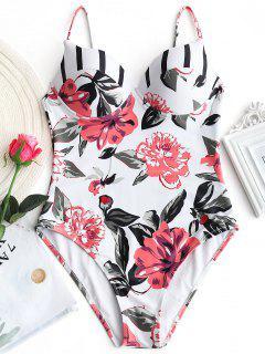 Maillot De Bain Une Pièce Push Up Floral Underwire - Floral S