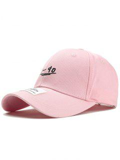 Unique 19-90 Pattern Embroidery Baseball Hat - Pink