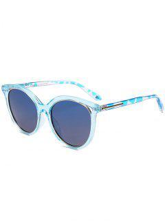 Metall Full Frame Cat Eye Sonnenbrille Sonnenbrille - Blau