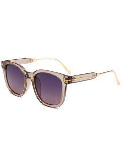 Simple Full Frame Polarized Sunglasses - Silver Frame+dark Brown Lens