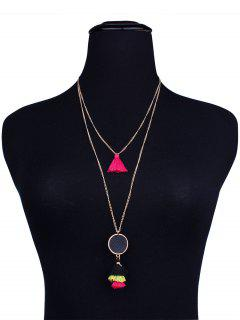 Bohemian Alloy Tassel Layered Necklace - Yellow And Black