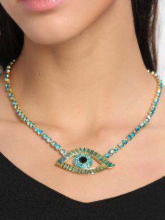 Collar De Hueso De Diamantes De Imitación Brillante - Verde