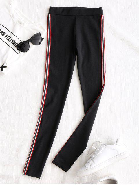 hot Side Stripe Workout Pants - BLACK ONE SIZE Mobile