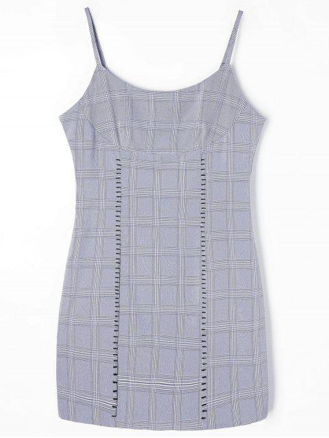 Robe Courte à Carreaux - gris XL Mobile