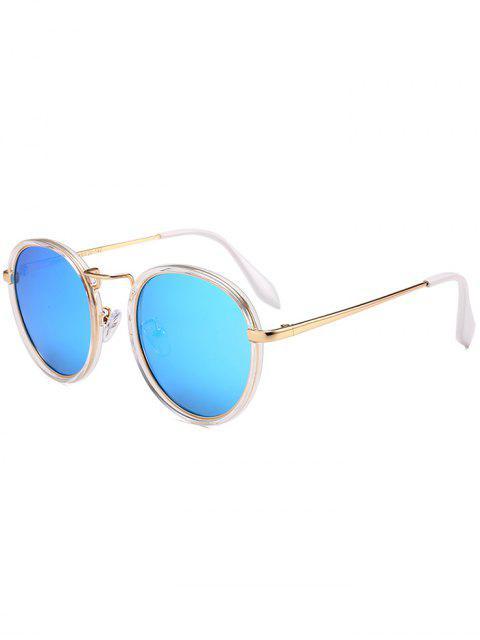 Gafas de sol redondas de marco completo de metal - Azul Hielo  Mobile