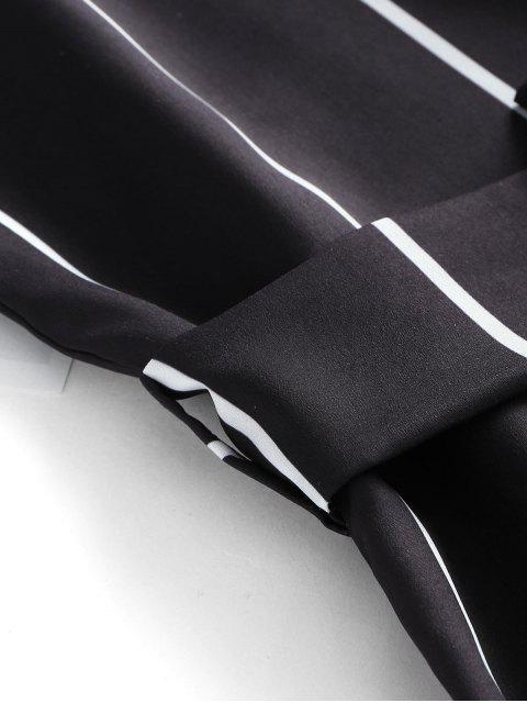 Mameluco a rayas con cinturón - Negro L Mobile