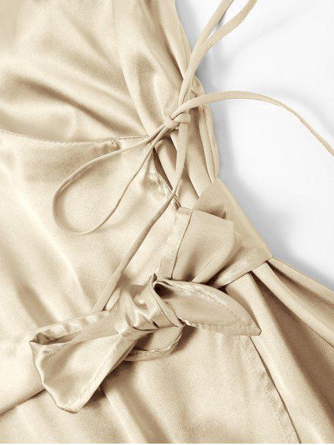 Vestido Cami ceñido con lazo y lazo - Champán S Mobile