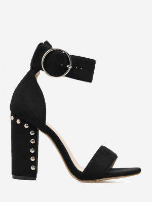 Studded Heeled Two-piece Sandals