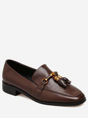 Square Toe Loafers with Tassels