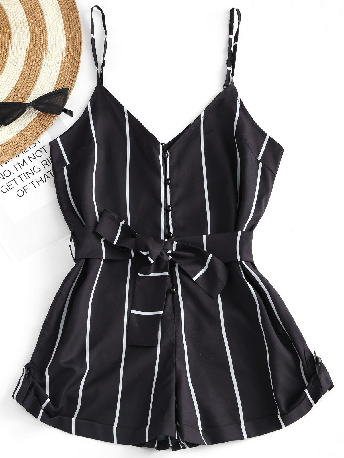 Striped Belted Cami Ro