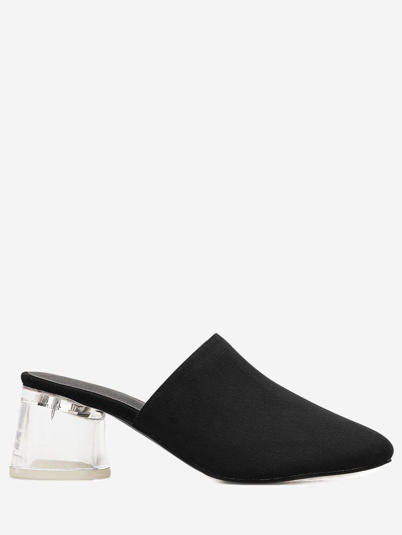Lucid Block Heel Mules Shoes 250256811