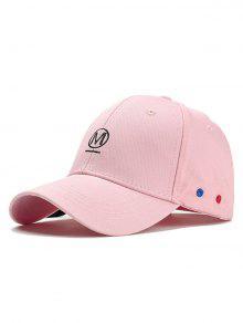 فريد إلكتروني التطريز مهدب قبعة بيسبول - زهري