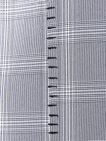 Cuadros M Slip A Vestido Mini Gris wq6tXO8