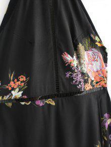 Abertura Maxi Ojal Espalda Vestido Abierta Negro L H5wUwAq6