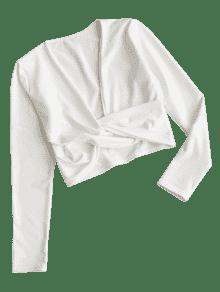 M Corte Top Blanco Twist De Recortado Bajo PUqCcCw07f