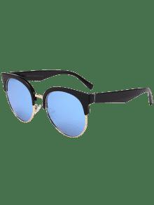 einzigartige runde circle cat eye sonnenbrille schwarz blau sonnenbrille zaful. Black Bedroom Furniture Sets. Home Design Ideas