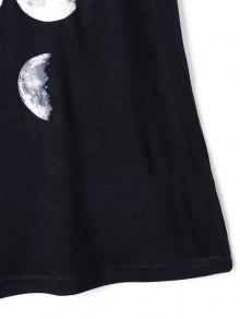 Changed Print Top Negro Moon Tank L HOw0frHq