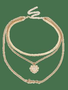 Metal layered heart cross love letter pendant necklace golden metal layered heart cross love letter pendant necklace aloadofball Gallery