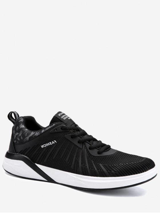 Air Cushion Splicing Athletic Shoes - Preto Branco 43