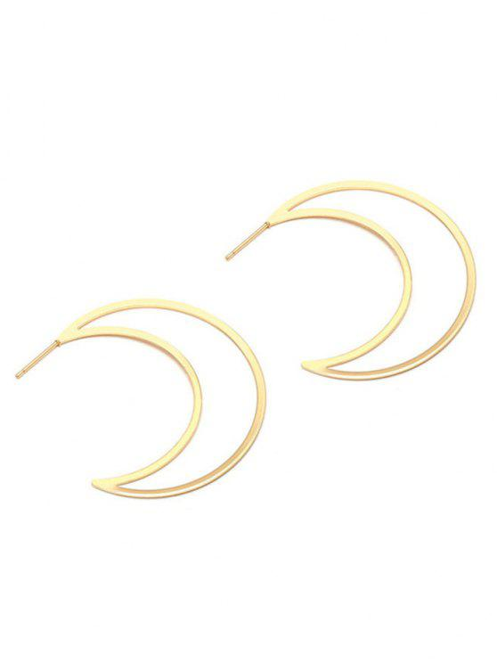 Moon Drop Earrings - Dorado