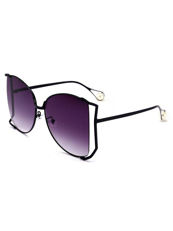 best Cut Out Lens Oversized Square Sunglasses - PURPLE MONSTER