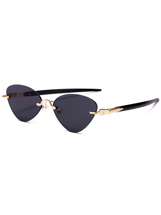 shops Rimless Cat Eye Sunglasses - BLACK