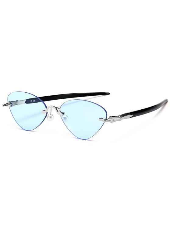 Rimless Cat Eye Óculos de sol - Azul