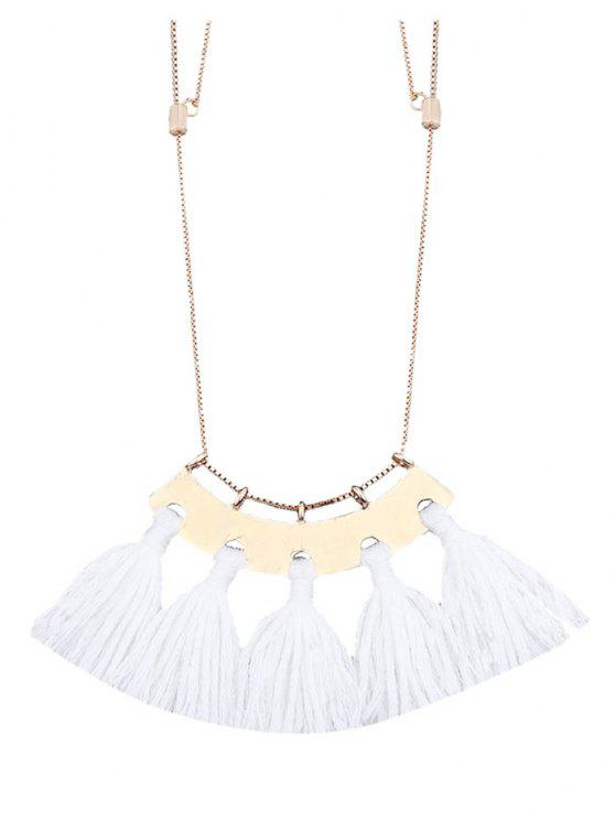 Legierung Fransen Anhänger Halskette - Weiß
