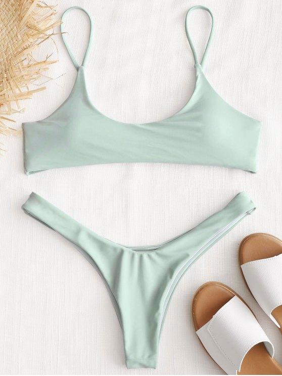 gepolsterthohe geschnitten Bikini Set - Minze S