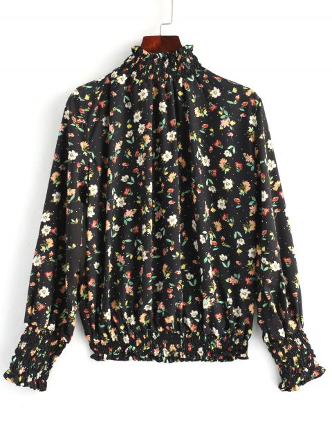 Blusa fruncida floreada floral - Floral L Mobile