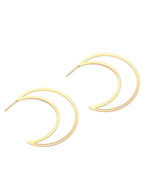 outfits Moon Drop Earrings - GOLDEN  Mobile