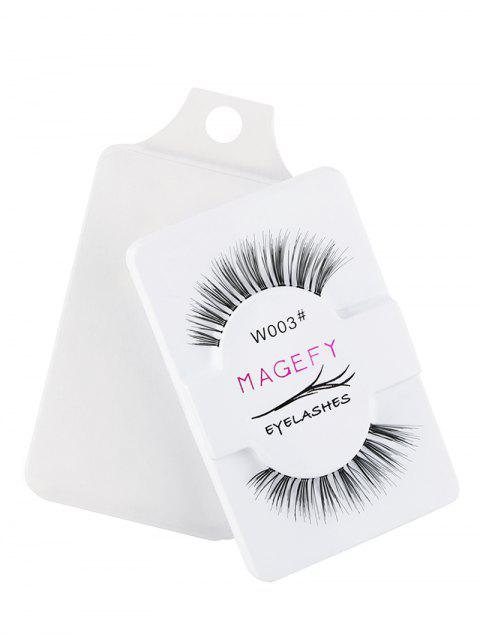 affordable 1 Pair 3D Natural Fake Eyelashes - BLACK  Mobile