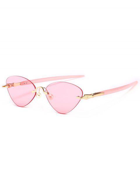 chic Rimless Cat Eye Sunglasses - LIGHT PINK  Mobile