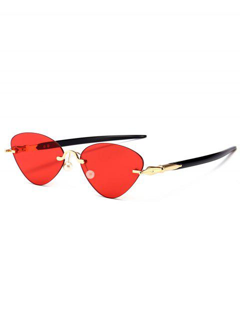 sale Rimless Cat Eye Sunglasses - RED  Mobile