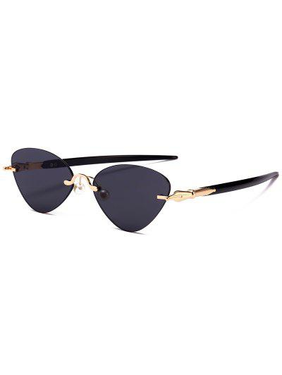 bad86fbfec Rimless Cat Eye Sunglasses - Black ...