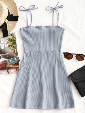 Knitted Ribbed Slip Mini Dress