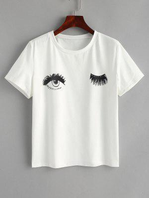 Algodão Olhos Graphic T Shirt - Branco L
