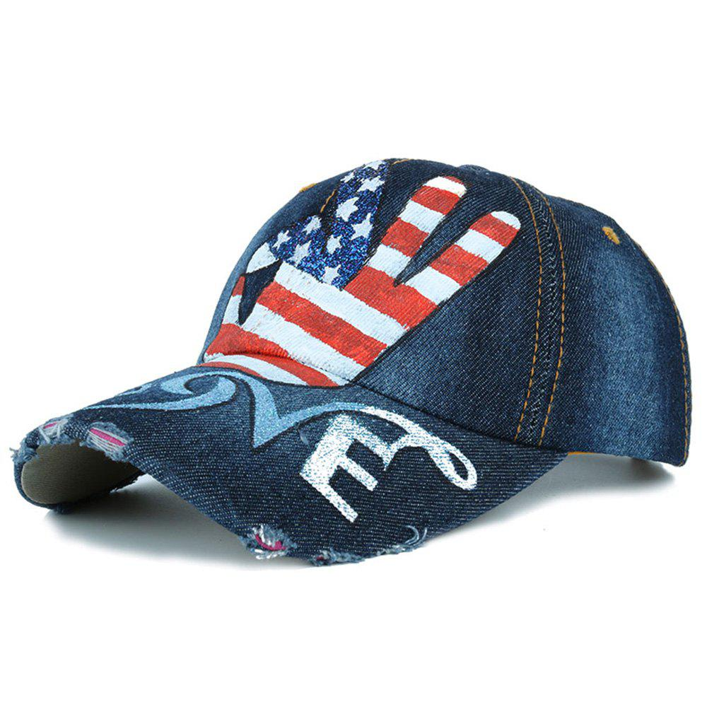 Funny OK Gesture USA Flag Pattern Baseball Hat