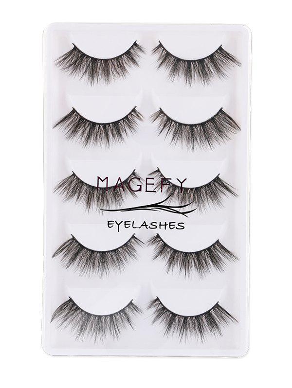 5Pcs Natural Thick Handmade Fake Eyelashes Kit